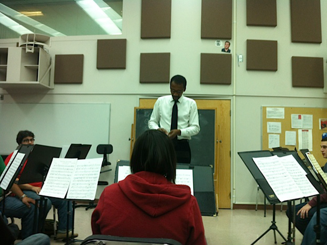 Alphonso Johnson Teaching at JFK High-School