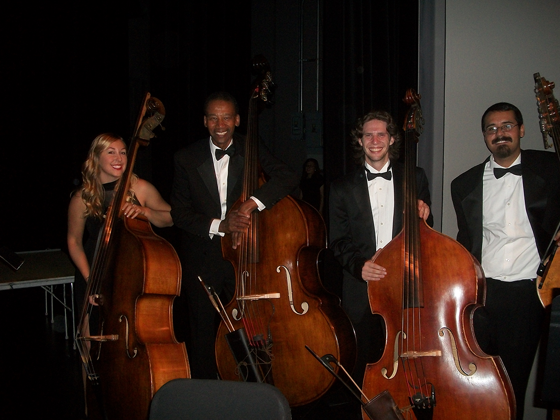 Alphonso Johnson with the California State University, Northridge (CSUN) Bass Section